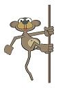 Mono en liana