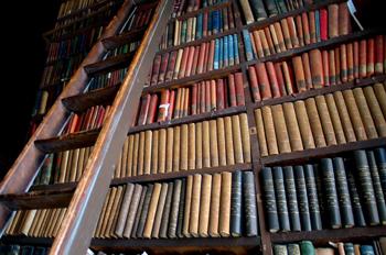 """""""Libros del Long Room del Trinity College en Dublín, Irlanda"""""""
