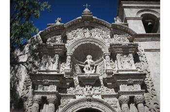 Iglesia de San Juan Bautista en Yanahuara, Arequipa, Perú