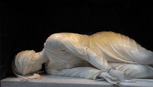Estatua de Santa Cecilia en Trastevere