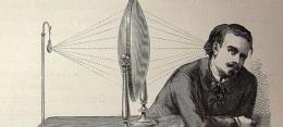 """""""Refracción de las ondas sonoras. Lente de Soudhans"""". Ilustraciones pertenecientes al libro : Guillemin, A. (1882). El mundo físico : gravedad, gravitación, luz, calor, electricidad, magnetismo, etc. Barcelona: Montaner y Simón."""