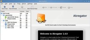 Akregator, agregador de noticias de KDE