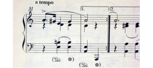 Partitura de piano