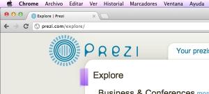 URL Prezi en el navegador Google Chrome