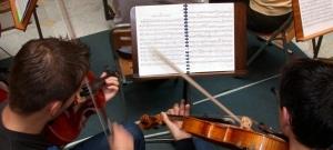 Ensayo de una orquesta