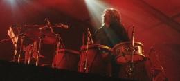 Percusionista en concierto