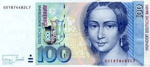 Billete alemn con la imagen de Clara Schuman