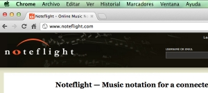 Captura de pantalla URL de Noteflight