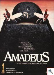 Cartel de la película Amadeus de Milos Forman