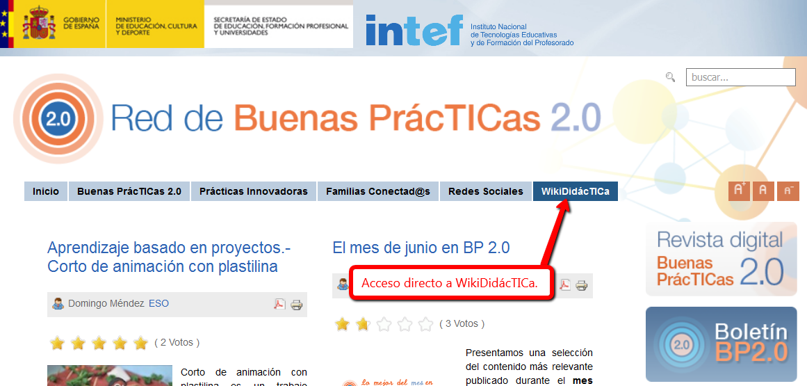Acceso a WikiDidácTICa