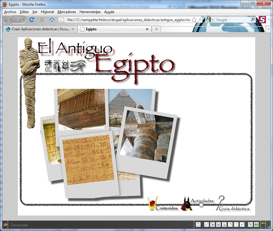 Portada de las actividades para Antiguo Egipto
