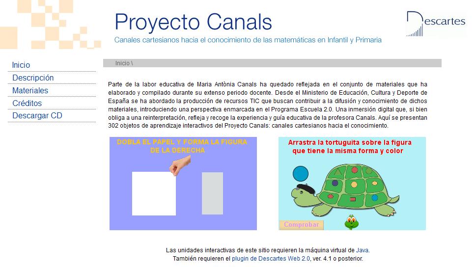 Página principal del proyecto