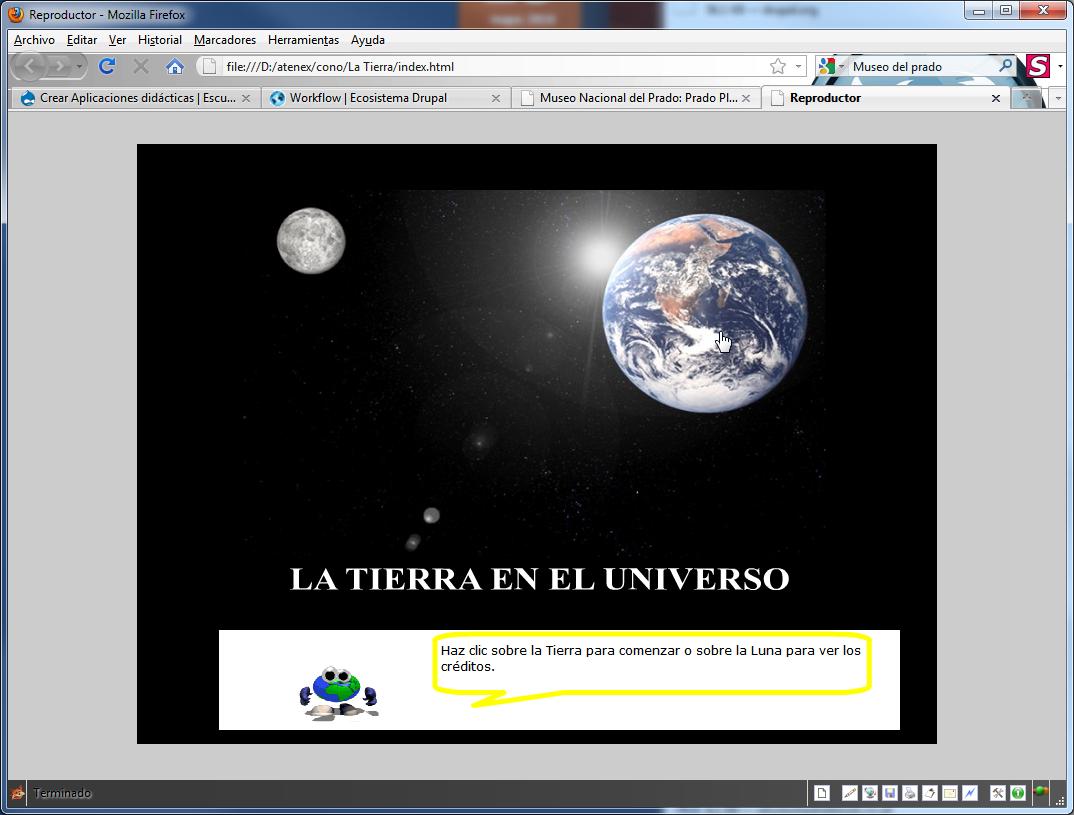 Captura de pantalla de la unidad didáctica