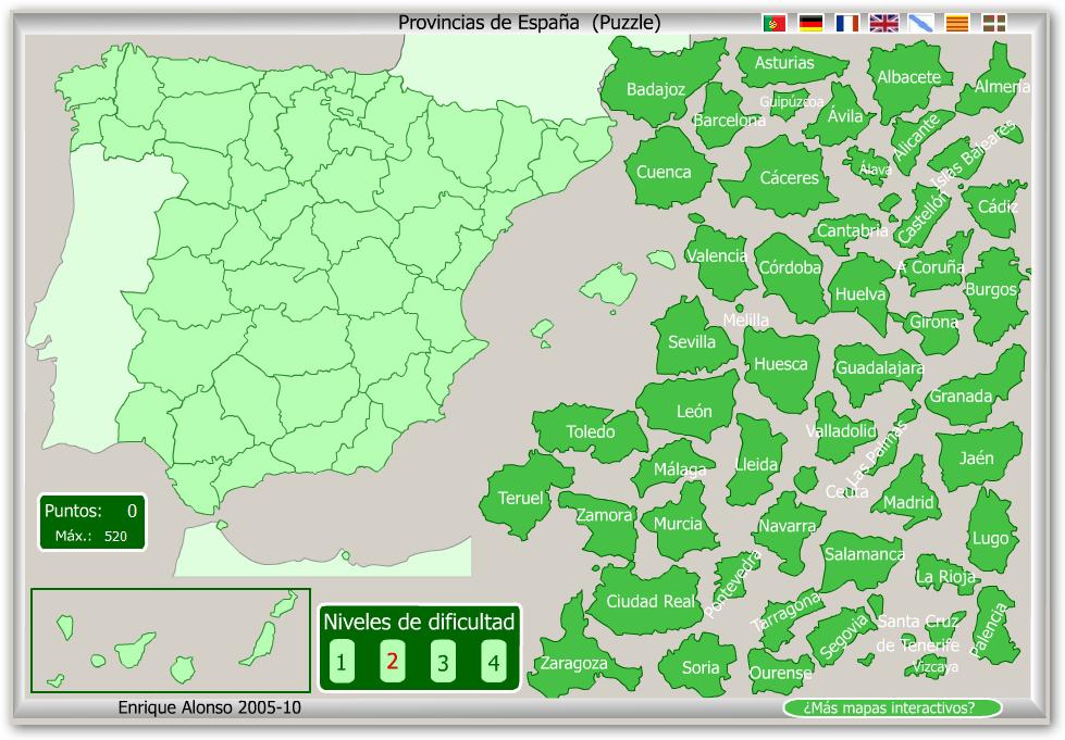 Mapas flash interactivos  rTIC para Ceuta y Melilla