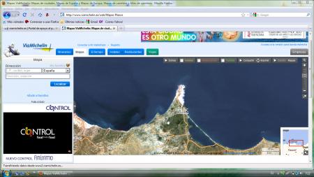 pantalla web viamichelin