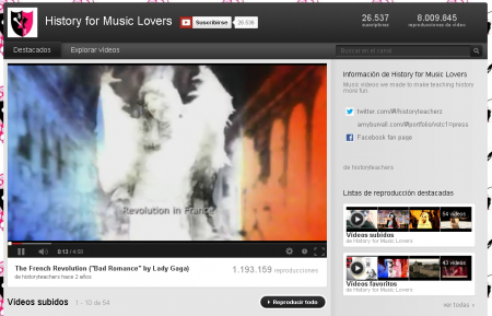Detalle del vídeo del canal
