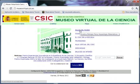 Portada del museo virtual