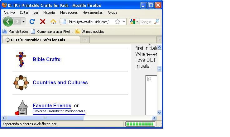 captura pantalla web
