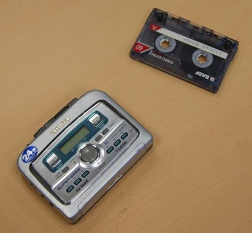 Walkman y cinta