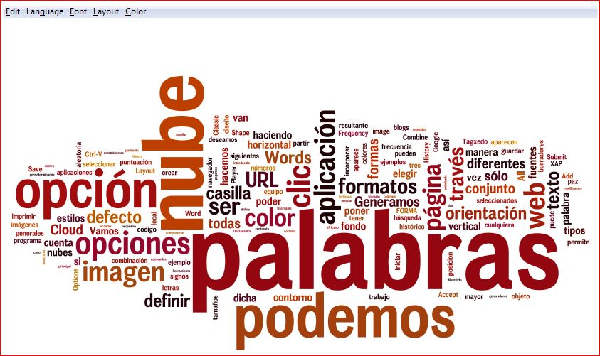 nube con Wordle