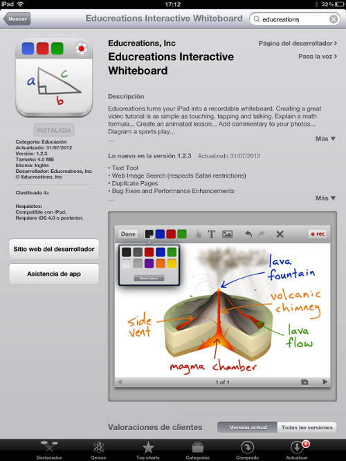 EduCreations en la APP Store