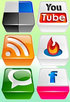 Logos de aplicaciones web 2.0