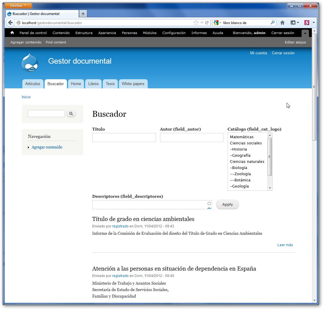 Drupal CMS 6/7: Creación de documentos o contenidos en Drupal ...