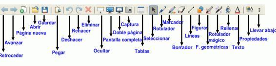 barra de herramientas