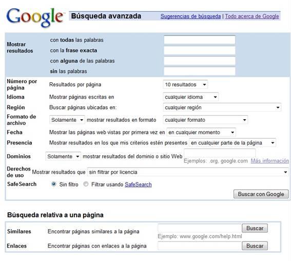 Busquedas Avanzadas En Google Observatorio Tecnologico