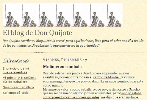 El blog de Don Quijote