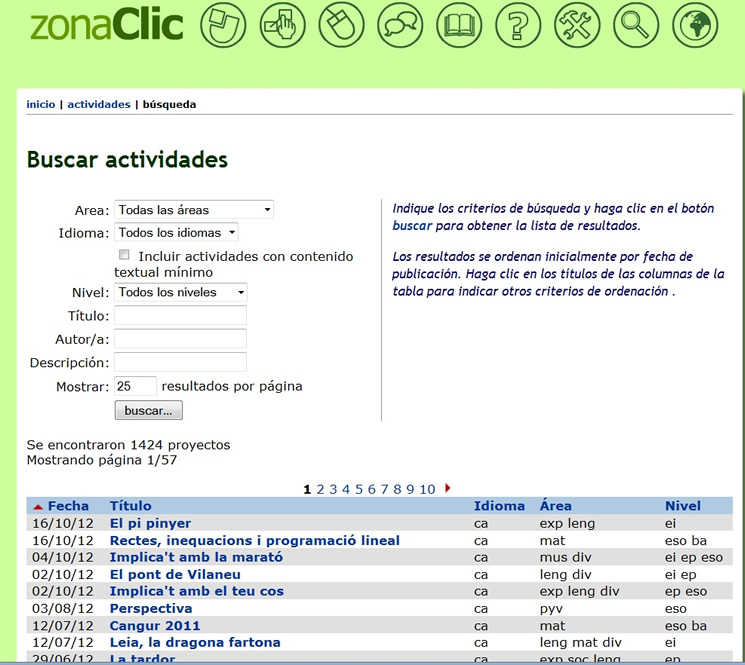 Portal de recursos Zona Clic