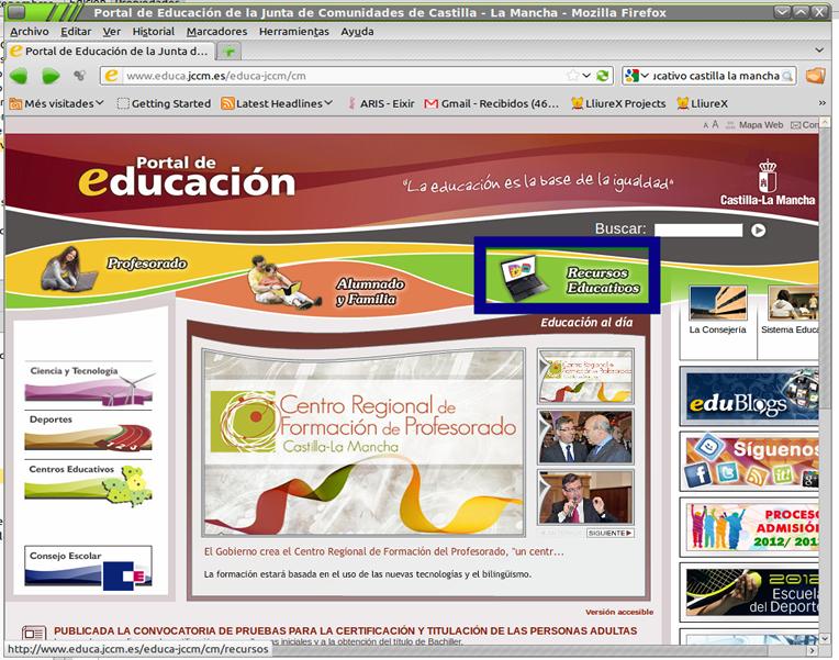 Portal educativo de Castilla-La Mancha