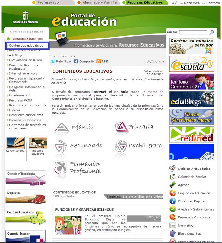 Portal de contenidos de Castilla-La Mancha