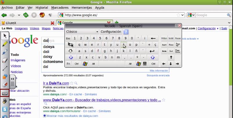 Herramienta teclado virtual